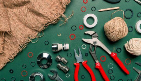 Top view plumbing tools